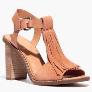 Madewell Fey Fringe Sandal Size 10